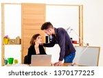 falling in love in office.... | Shutterstock . vector #1370177225