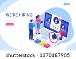 hiring and recruitment concept... | Shutterstock .eps vector #1370187905