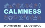 calmness word concepts banner....