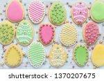 delicious easter cookies... | Shutterstock . vector #1370207675