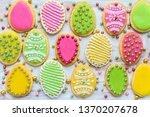 delicious easter cookies... | Shutterstock . vector #1370207678
