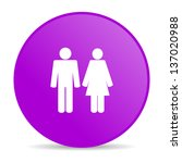 pink circle glossy web button... | Shutterstock . vector #137020988