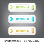 set of three modern plastic... | Shutterstock .eps vector #137022302