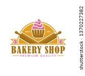 bakery logo template  vector... | Shutterstock .eps vector #1370227382