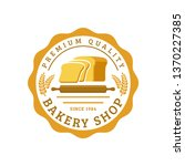 bakery logo template  vector... | Shutterstock .eps vector #1370227385