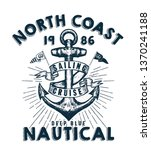 t shirt graphic print nautical... | Shutterstock .eps vector #1370241188