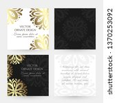 bronze floral decor. square... | Shutterstock .eps vector #1370253092