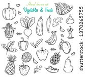 vegetables and fruits hand...   Shutterstock .eps vector #1370265755
