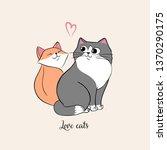 vector illustrator of a pair of ... | Shutterstock .eps vector #1370290175