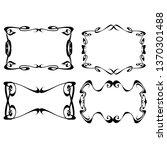 set of vector vintage frames on ...   Shutterstock .eps vector #1370301488