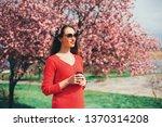 beautiful young long hair woman ... | Shutterstock . vector #1370314208