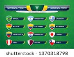national teams of south america ... | Shutterstock .eps vector #1370318798