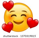 smiling emoticon with three...   Shutterstock .eps vector #1370319815