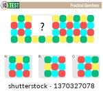 iq test practical questions  ...   Shutterstock .eps vector #1370327078