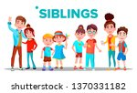 siblings  cheerful brothers and ...   Shutterstock .eps vector #1370331182