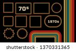 1970s style museum picture... | Shutterstock .eps vector #1370331365