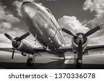 historical airplane on a runway | Shutterstock . vector #1370336078
