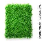 rectangle green grass banner | Shutterstock . vector #137033696