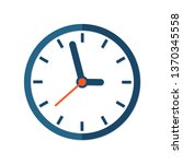 clock sign icon in flat style.... | Shutterstock .eps vector #1370345558