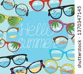 frame with different sunglasses ...   Shutterstock .eps vector #1370347145