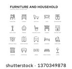 set of 20 line icons such as... | Shutterstock .eps vector #1370349878