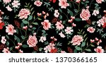 seamless floral pattern in... | Shutterstock .eps vector #1370366165
