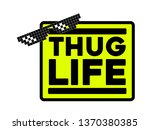 98acbce5c ... thug life yellow square style sticker, isolated, like a boss ...