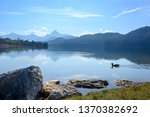 mountain lake weissensee in... | Shutterstock . vector #1370382692