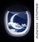 Looking Through Plane Window...