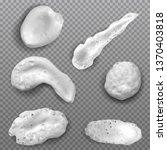 realistic white smears foam ...   Shutterstock .eps vector #1370403818