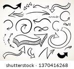 hand drawn curvy arrows set.... | Shutterstock . vector #1370416268
