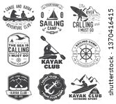 set of sailing camp  yacht club ...   Shutterstock .eps vector #1370416415