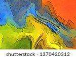abstract watercolor multicolor... | Shutterstock . vector #1370420312