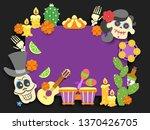 dia de los muertos. day of the... | Shutterstock .eps vector #1370426705