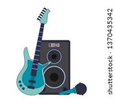 music and studio equipment blue ... | Shutterstock .eps vector #1370435342