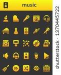music icon set. 26 filled music ...   Shutterstock .eps vector #1370445722