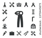 wrench icon set. 17 filled... | Shutterstock .eps vector #1370445875