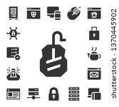 www icon set. 17 filled www... | Shutterstock .eps vector #1370445902