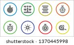 precision icon set. 8 filled... | Shutterstock .eps vector #1370445998