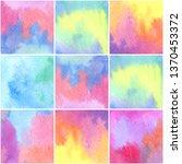 watercolor rainbow background.... | Shutterstock . vector #1370453372
