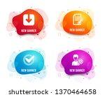 liquid badges. set of confirmed ... | Shutterstock .eps vector #1370464658