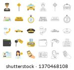 taxi service cartoon outline... | Shutterstock .eps vector #1370468108