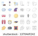rest and sleep cartoon outline... | Shutterstock .eps vector #1370469242