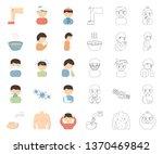 the sick man cartoon outline... | Shutterstock .eps vector #1370469842