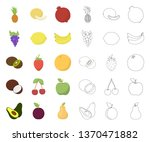 different fruits cartoon... | Shutterstock .eps vector #1370471882
