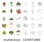 forest and nature cartoon... | Shutterstock .eps vector #1370471885