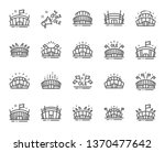 sports stadium line icons. ole... | Shutterstock .eps vector #1370477642