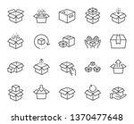 box line icons. package ...   Shutterstock .eps vector #1370477648