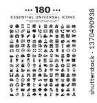 180 universal set icons ...   Shutterstock .eps vector #1370490938