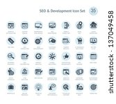 seo and development icon set | Shutterstock .eps vector #137049458